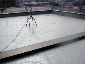 屋上塩ビシート防水完了